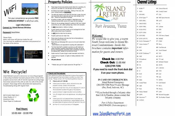 Island Retreat Brochure